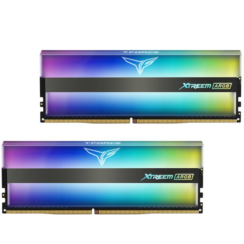 十铨(Team)DDR4 4000 16G(8G*2)台式机内存条 幻镜系列 RGB灯条