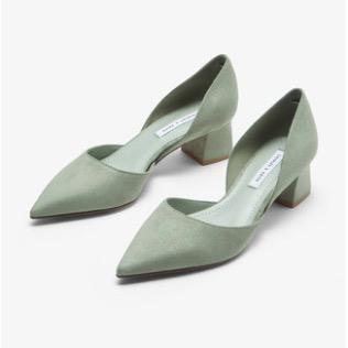 CHARLES & KEITH CK1-60920181 女士尖头粗跟单鞋 粉白色 36