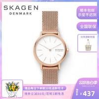 Skagen女士手表时尚简约气质ins风女款正品名牌品牌石英腕表
