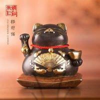 朱炳仁铜 招财猫 客厅装饰摆件办公桌摆件铜工艺品艺术礼 礼 招财猫(小号)