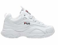 FILA 斐乐 女士白色老爹鞋厚底运动鞋 37.5