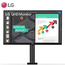 LG 乐金 27QN880-B 27英寸 IPS显示器 (2K、75Hz、HDR10、60W Type-C供电)