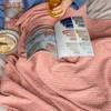 毛毯小被子单人沙发毯子披肩休闲毯全棉空调毯夏办公室午休午睡毯