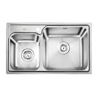 OULIN 欧琳 OL-2201厨房不锈钢双槽水槽(裸槽)
