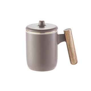 MAXCOOK 美厨 MCTC123 陶瓷茶杯 380ml 哑光灰