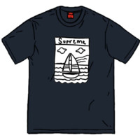 Supreme Sailboat 黑色 短袖 M码