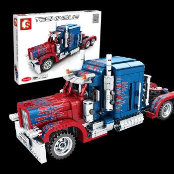森宝积木科技系列机器人汽车人擎天柱拼装积木玩具 擎天柱