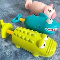 星卡比 儿童鲨鱼鳄鱼抽拉水枪 洗澡玩具