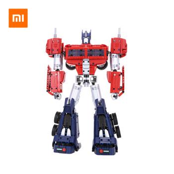 小米 儿童玩具积木 变形金刚 擎天柱 小米米兔机器人玩具系列 正版授权 智能拼搭  高度还原经典造型