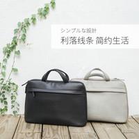 宜丽客(ELECOM)日本男包手提包男商务公文包电脑包13.3/15.6英寸横款薄软皮公务包男士 手提包 灰色13.3inch