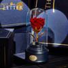Love Letter小王子的玫瑰永生花玻璃罩礼盒音乐盒玫瑰保鲜花八音盒520情人节生日表白结婚礼物 小王子的玫瑰