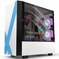 1日0点:aigo 爱国者 破晓X 元素版 玻璃侧透机箱