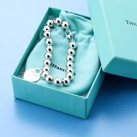 520告白季 :  Tiffany&Co. 蒂芙尼 Return系列 27630138 银色 珐琅心形吊坠手链