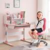 CHEERS 芝华仕 CH002 可升降学生写字桌椅套装 糖果粉学习桌+学习椅