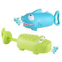 KIDNOAM 衾美 抽拉喷水儿童洗澡玩具  鳄鱼+鲨鱼