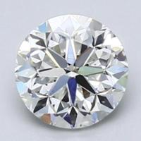 Blue Nile 1.01克拉圆形切割钻石 良好切工 E级成色 VS2净度