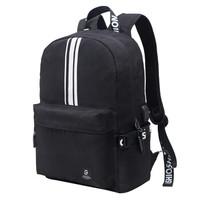 SWISSGEAR 电脑包 防泼水多功能多用休闲包笔记本双肩包背包书包USB接口 14.6英寸 SA-9986黑色