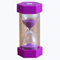 随想曲(CAPRICE)安全防摔六角沙漏  儿童创意礼品 梦幻紫10分钟沙漏