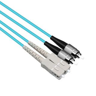首千 SHOCHAN SQ-GT9017T 电信级 FC-SC 多模双芯OM3万兆光纤跳线尾纤 20米 光缆线光钎跳纤网线 可定制米数