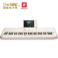The ONE智能电子琴 成年人儿童初学乐器 61键电子钢琴 香槟金