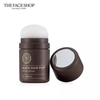 菲诗小铺 The Face Shop 丰盈发际线气垫阴影粉 02深棕色7g(填充 修饰大额头修容遮盖头皮)