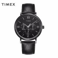 美国TIMEX天美时全盘轻商务男士手表复古石英表时尚黑表盘经典腕表 TW2T35200