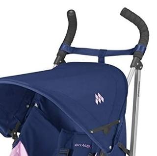 MACLAREN 玛格罗兰 Globetrotter 婴儿推车 (可折叠、四轮推车、轻便、Globetrotter、蓝/粉红色)