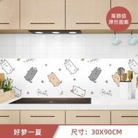 例如 厨房防油贴纸  30*90cm