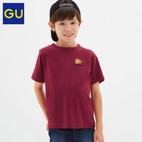 GU极优童装印花T恤(短袖)哈利波特合作款霍格沃茨魔法学校321360