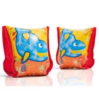 INTEX 56659儿童学游泳手臂圈蓝鲸包布充气水袖小孩套胳膊浮圈