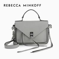 Rebecca Minkoff牛皮女士包DARREN流苏时尚单肩斜挎邮差包小号 Grey