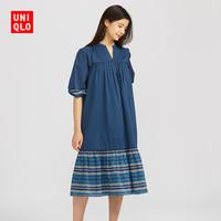 优衣库 女装 (UT) ANNA SUI全棉连衣裙(七分袖) 425541 UNIQLO