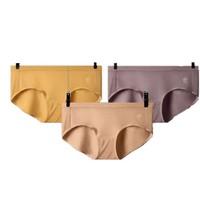 Bananain 蕉内 女士纯色莫代尔中腰三角内裤3T-IU500E 3条装(黄色M+紫色M+肤色M)