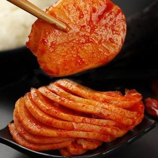 昊援 韩式辣白菜辣花萝卜组合 辣白菜 500g*3袋+辣花萝卜 500g*2袋