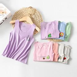 儿童莫代尔无痕背心夏季薄款男女童装宝宝弹力打底衫打底莫代尔