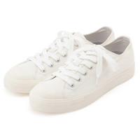 无印良品 MUJI 不易疲劳 不易沾水 运动鞋 帆布鞋 米白色