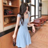 WIXI 0146 H2185 法式桔梗收腰连衣裙