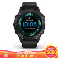 佳明(GARMIN)Fenix 6 Pro 普通版不锈钢表圈 GPS黑色表带户外智能心率多功能跑步手表中文版