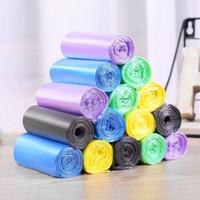 惠寻 点断式家用一次性垃圾袋 颜色随机 100只装