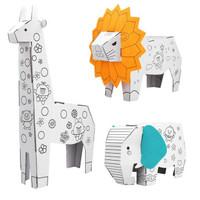 JIMITU 吉米兔 3D立体涂鸦折纸玩具 狮子(三款可选)