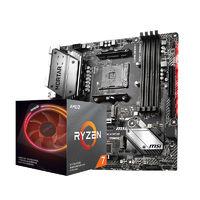 AMD 锐龙 Ryzen 7 3700X CPU处理器 + MSI 微星 B450M 迫击炮 MAX 主板 板U套装