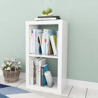 好事达书架 儿童书柜 厚板储物柜 两格柜 收纳置物架 柜子1834 白色不含布抽 宜素