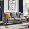 优梵艺术 930907 美式简约真皮沙发 三人位