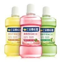 三金 西瓜霜漱口水 果香型 500ml*3瓶装 *3件