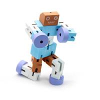 Zhiqixiong 稚气熊 木制机器人diy玩具 多色可选