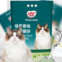 yoken 怡亲 猫砂 绿茶豆腐猫砂 2.5kg*6包