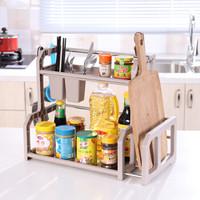 厨房置物架调料收纳架调味用品用具小百货家用刀架多功能2多层3厨具收纳 颜色随机发