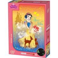 有券的上!迪士尼(Disney) 白雪公主1000片夜光儿童玩具拼图女孩礼物(古部盒装拼图带图纸)11DF01K4097 *2件+凑单品
