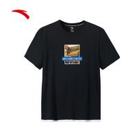 安踏运动短袖T恤男 2020夏季新品圆领短T短袖针织衫15929176