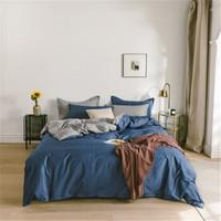 钰伶纯棉四件套1.8米床双人床AB版简约素色全棉纯色被套床单